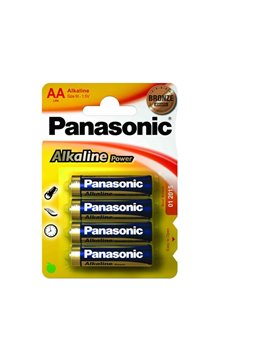 Pilas Panasonic Alkalina Lr6. Aa De 1,5 V. Blister De 4 Pilas (Caja De 12 Blister De 4 Pilas)