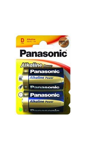 Pilas Panasonic Alkalina Lr20. Blister De 2 Pilas (Caja De 12 Blister De 2 Pilas)