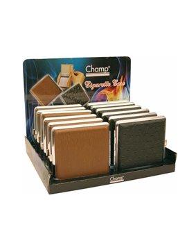 Pitilleras Metalicas Champ Forradas Para 20 Cigarrillos (Caja De 12 Unidades)