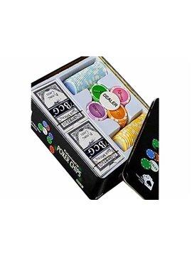 Cajas De 100 Fichas De Casino Numeradas De 11.5 Gr + Barajas