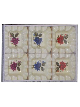 Ceniceros De Sobremesa Ceramica.Borde Rizado ( Caja De 6 Unidades)