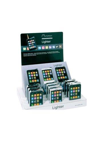 Encendedores Electronicos Champ Boutique Phone (Expositor De 12 Unidades)