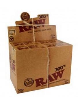 Papel De Fumar Raw Blocs De 300  (Caja De 40 Libritos De 300 Hojas)