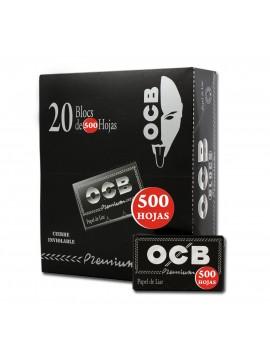 Papel De Fumar Ocb Blocs 500 Premium (Caja De 20 Libritos Con 500 Hojas.)