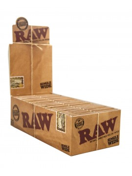 Papel De Fumar Raw Doble Corto (Caja De 25 Libritos)