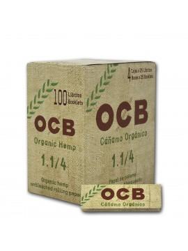 Papel De Fumar Ocb Organico 1-1/4 (Caja De 100 Libritos De 50 Hojas)