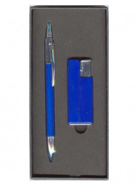 Encendedor + bolígrafo Azul